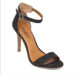 Strappy & Chic Leather Heels Black Stilettos